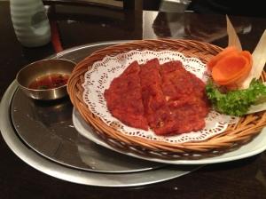 myung ga kimchee pancake
